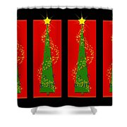 Tidings From Trees Shower Curtain