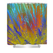 Tie Dye Agave Shower Curtain
