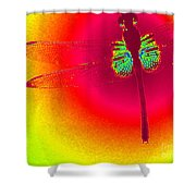 Tie Dye Dragonfly Shower Curtain