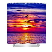 Tie Dyed Sky Shower Curtain