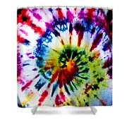 Tie Dyed T-shirt Shower Curtain