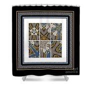 Tied To My Concrete Garden - Kaleidoscope - Hexaptych Shower Curtain