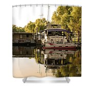Tied Up Atchafalaya Swamp Louisiana Shower Curtain