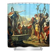 Tiepolo's Queen Zenobia Addressing Her Soldiers Shower Curtain