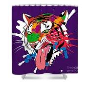Tiger 11 Shower Curtain