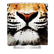 Tiger Art - Burning Bright Shower Curtain
