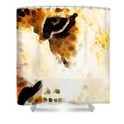 Tiger Art - Pride Shower Curtain by Sharon Cummings