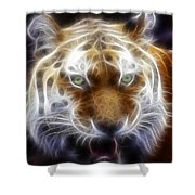Tiger Greatness Digital Painting Shower Curtain