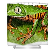 Tiger-legged Monkey Frog Shower Curtain