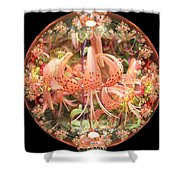 Tiger Lily Sphere Shower Curtain