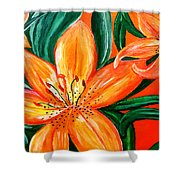 Tiger Lily Trio Shower Curtain