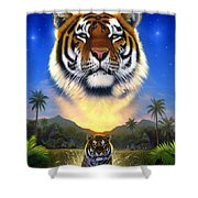 Tiger Of The Lake Shower Curtain