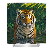 Tiger Pool Shower Curtain