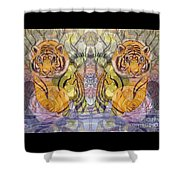 Tiger Spirits In The Garden Of The Buddha Shower Curtain