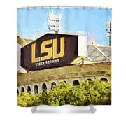 Tiger Stadium - Bw Shower Curtain