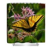 Tiger Swallowtail Digital Art Shower Curtain