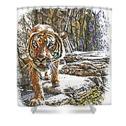 Tiger View Shower Curtain