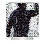Tiger Woods Fist Pump Mosaic Shower Curtain