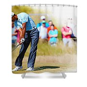 Tiger Woods - The British Open Golf Championship Shower Curtain