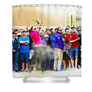 Tiger Woods - The Waste Management Phoenix Open At Tpc Scottsdal Shower Curtain