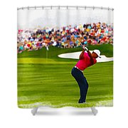 Tiger Woods - The Waste Management Phoenix Open  Shower Curtain