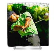 Tiger Woods - Wgc- Cadillac Championship Shower Curtain