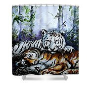 Tigers-mother And Child Shower Curtain