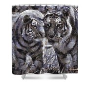 Tigers Photo Art 02 Shower Curtain