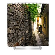 Tight Alley In Stone Shower Curtain