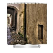 Tight Alley With Arch Shower Curtain