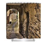 Tight Stone Alley Shower Curtain