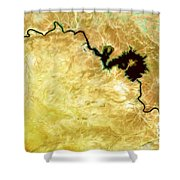 Tigris River Iraq Shower Curtain by Phill Petrovic