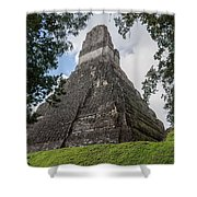 Tikal Pyramid 1b Shower Curtain