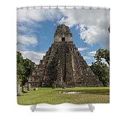 Tikal Pyramid 1j Shower Curtain