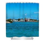 Tiki Bar Islamorada Shower Curtain