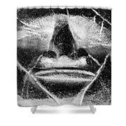 Tiki Mask Negative Shower Curtain