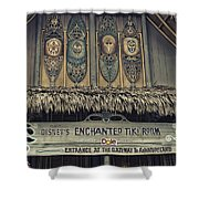 Tiki Room Adventureland Disneyland Shower Curtain