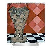 Tiki Statue Art Shower Curtain