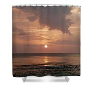 Tiki Sunset 2 Shower Curtain
