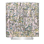 Tile Abstract Shower Curtain