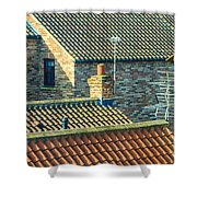 Tile Roofs - Thirsk England Shower Curtain