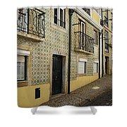 Tile Walls Of Lisbon Shower Curtain