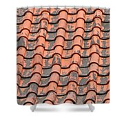 Tiled Lines Shower Curtain