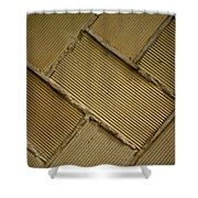 Tiled Tunnel Wall Shower Curtain
