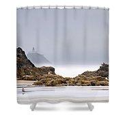 Tillamook Head Lighthouse Shower Curtain