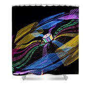Tilt A Whirl Shower Curtain