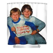 Tim And Dan Nutting Shower Curtain