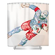 Tim Howard Drawing Shower Curtain