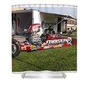 Tim Irwin Dragster Shower Curtain