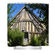 Timber A Frame Cottage Shower Curtain